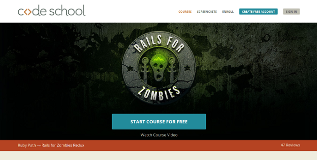 Rails for Zombies Redux and Rails for Zombies 2 (codeschool.com)